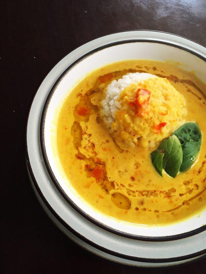Golden Coconut Lentil Soup LivingNimbly Lunch Easy BudgetBytes