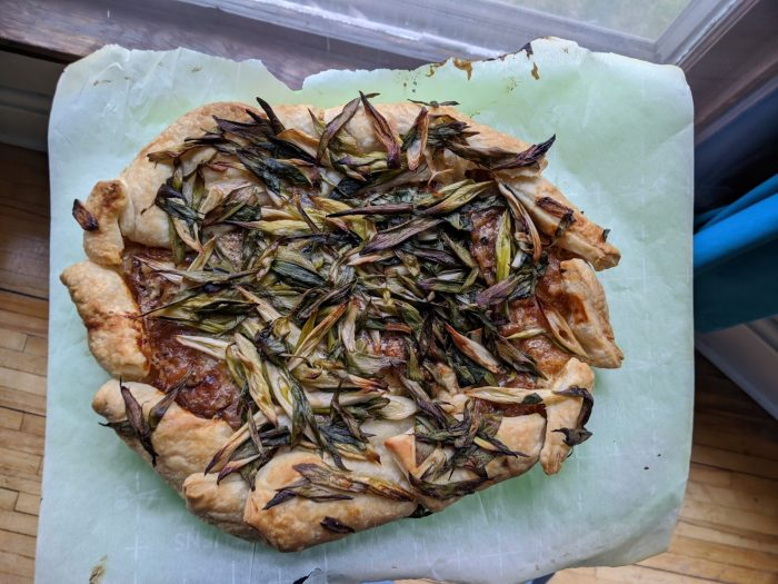 Sourdough Spring Onion Galette